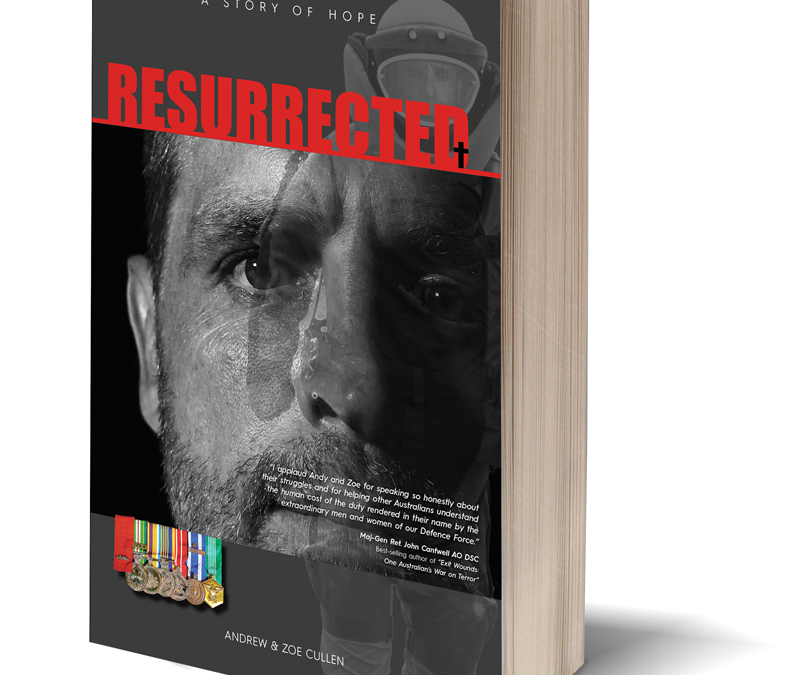 PTSD Resurrected Book Cover design