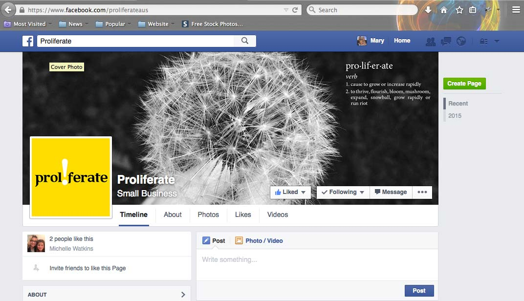 Proliferate Facebook page