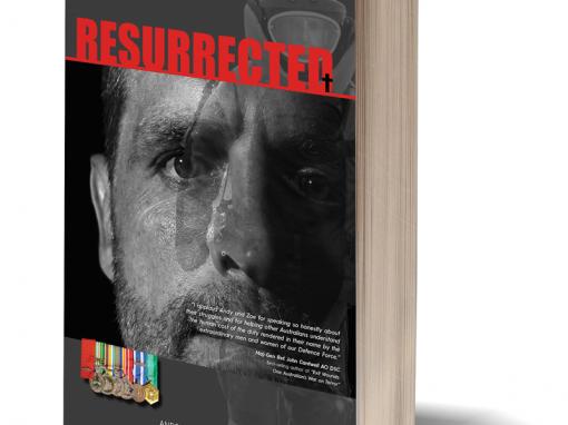 PTSD Resurrected Book Cover design