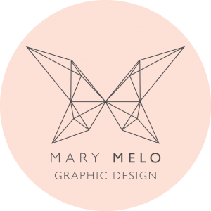 mary melo graphic design logo
